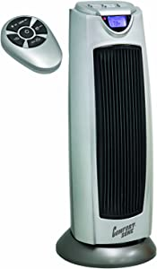 Comfort Zone Digital Ceramic Oscillating Electric Tower Heater/Fan with Remote Control