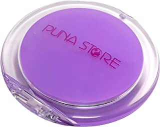 Puna Store 2X Magnifying Two Side Pocket Cosmetic Mirror, Round (Lavender)
