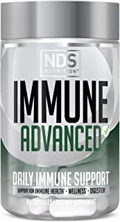 NDS Nutrition Advanced Immune Booster – Comprehensive Immune Support Supplement for Adults with Elderberry, Vitamin C, Vit...
