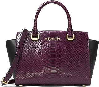 48d487e92b Amazon.com  Patent Leather - Satchels   Handbags   Wallets  Clothing ...