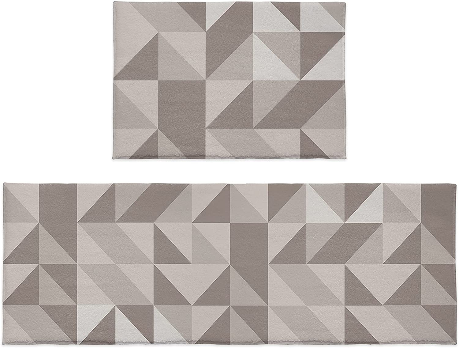 Cloud Dream Bargain sale Home New mail order Kitchen Rug Sets Triangle 2 Piece Geome Pattern