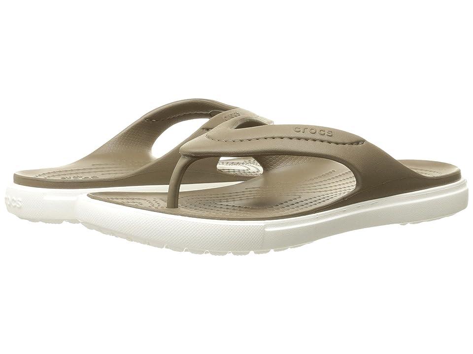 Crocs CitiLane Flip (Walnut/White) Slide Shoes