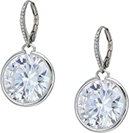 Betsey Johnson Blue by Betsey Johnson Large Cubic Zirconia Stone Drop with Accents and Details Earrings