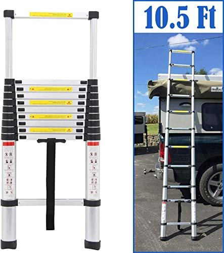 2021 10.5 new arrival FT Aluminium high quality Telescoping Ladder Multi-Purpose Foldable Extension Steps 330lb Load Capacity outlet sale