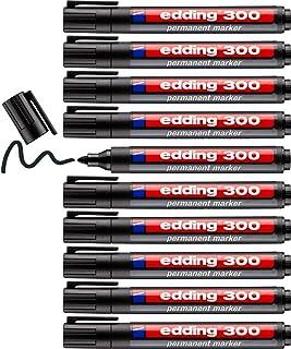 Edding Permanent Marker 300, Zwart, 10 Stuks