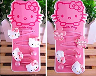 a14f39640 Hello Kitty Hair Accessories for Girls | Hello Kitty Clips Hair Ties  Hairpins - 8 Pieces