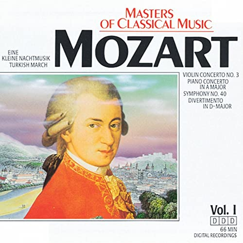 Masters Of Classical Music: Wolfgang Amadeus Mozart by Various