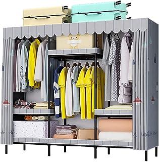 Penderies Rangement pour vêtements Vêtements Armoire portable Placard de rangement Organisateur, autoportant toilettes mob...