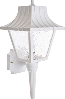 Nuvo SF77/853 Mansard Wall Lantern with Textured Acrylic Panels, White