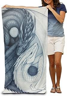 Beach Towel Dragon Yin Yang Microfiber Towel