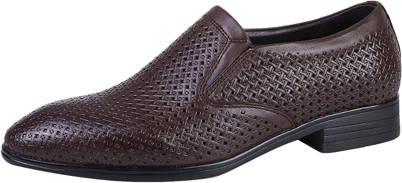 Icegrau Business Schuhe Mnner Leder Mokassin Formale Schuhe Stanzendes Design