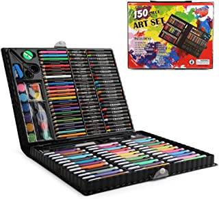 SAPU 150 Pcs Art Supplies for Kids,Deluxe Kids Art Set for Drawing Painting and More with Portable Art Box, Coloring Suppl...