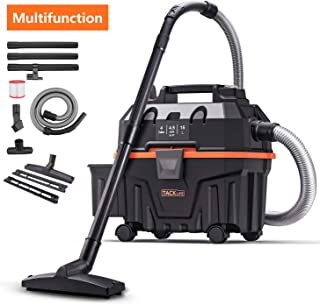 TACKLIFE Wet and Dry Vacuum Cleaner, Wet/Dry/Blowing 3 in 1, 4Gal 16.4ft Wire+5ft Hose, Multiple Acceessories, 1200W, Self-Police Mechanism, Suitable for Indoor and Outdoor Cleaning HXPVC01B