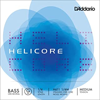 D'Addario Helicore Orchestral Bass String Set 1/4 Scale G String