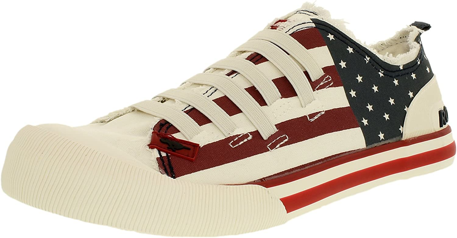 Rocket Dog Women's Joint Usa Canvas Ankle-High Fabric Fashion Sneaker
