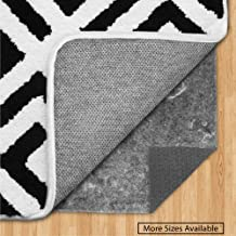 Gorilla Grip Original Felt and Rubber Underside Gripper Area Rug Pad .25 Inch Thick, 2x10 FT, for Hardwood and Hard Floor, Plush Cushion Support Pads for Under Carpet Rugs, Protect Floors