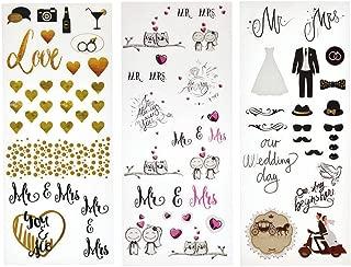 KODAK Colorful & Decorative Wedding Stickers for 2x3 Photo Paper (Printomatic, Mini Shot, Mini 2, Smile) - 3 Unique Sheets