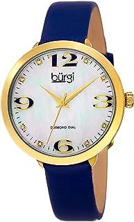 ساعة للنساء بسوار من الجلد بلون ابيض من بورغي - BUR119BU