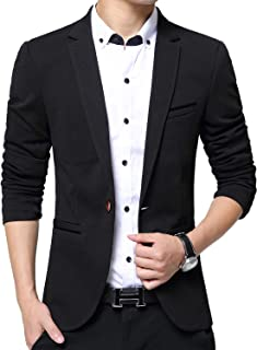 Men's Blazer Slim Fit Casual Elegant Lightweight Sports Coats Jackets One Button
