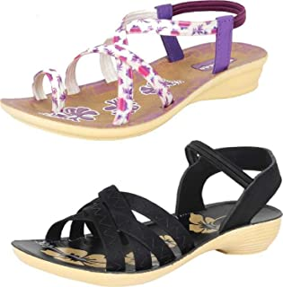 Shoefly Woman's Multicolor-Combo-(2)-981-983 Sandals & Floaters