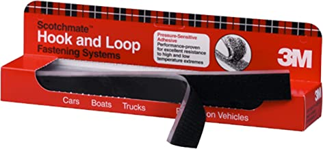 3M Hook/Loop Fastener SJ3571/SJ3572, Black, 1 in x 12 in, mated strips, PN06480