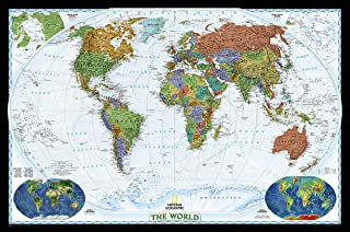 National Geographic: World Decorator Wall Map – Laminated (46 x 30.5 inches)..