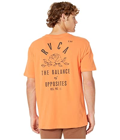 RVCA Rose State T-Shirt (Bright Orange) Men