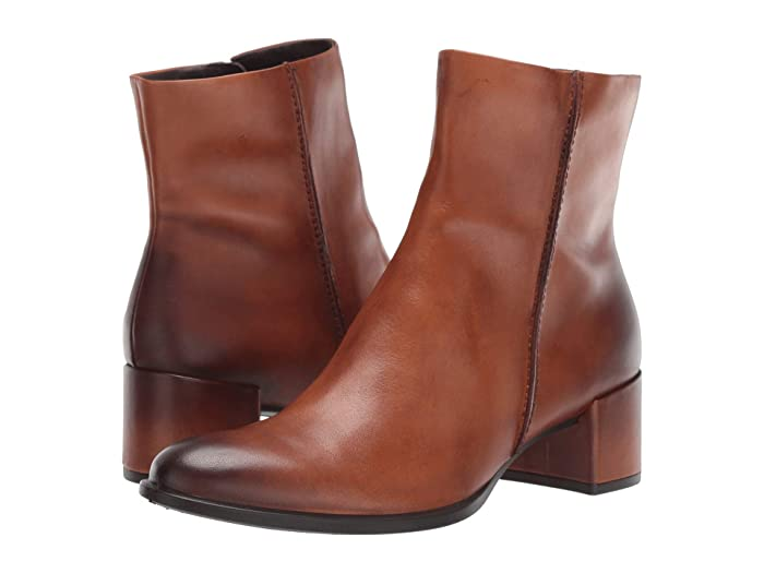 ECCO  Shape 35 Block Ankle Boot (Honey) Womens  Boots