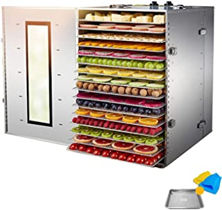 16/32 Tier Food Fruit Dehydrator, with Adjustable Temperature Control, Commercial Grade Dehydrator Machine | Better for Dr...