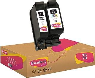 Excellent Print 15 78 Compatible Cartuchos de Tinta para HP PSC 950 2120 720 Fax 1230xi