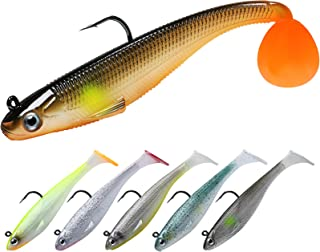 TRUSCEND Fishing Lures, Shad Soft Swimbaits, Pre-Rigged...