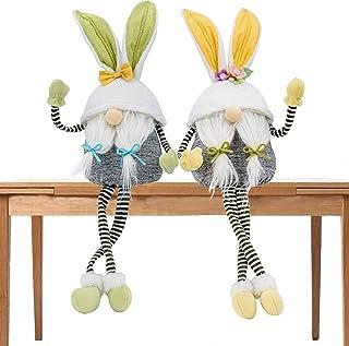 Gmone Bunny with Long Hand Leg Gnome Decorations Swedish Plush Dolls with Rabbit Ear