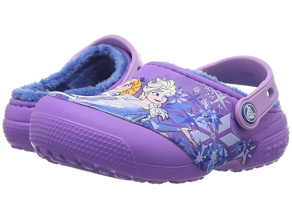 Crocs Kids Fun Lab Lined Frozen Clog (Toddler/Little Kid) (Purple) Girls Shoes