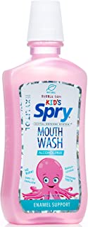 Xlear, Kid's Spry Mouth Wash, Enamel Support, Alcohol-Free, Natural Bubble Gum, 16 fl oz (473 ml)