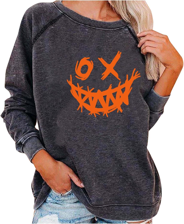 Detroit Mall Sweatshirt Women High quality new Halloween Long Crewneck Casual Sleeve Pullover