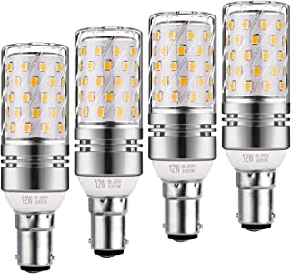 Yiun B15 LED Corn Bulbs12W, Equivalente 100W incandescente, 1200LM, blanco cálido 3000K Bulbs de la lámpara LED, decorativo Candle Base B15, la lámpara no regulables LED, paquete de 4