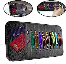lebogner Car Sun Visor CD Holder and Vehicle Organizer, Auto Interior Accessories 10 Pocket CD, DVDs Storage Case, Registration, Document and Ticket Holder, Personal Belonging Storage Pouch Organizer