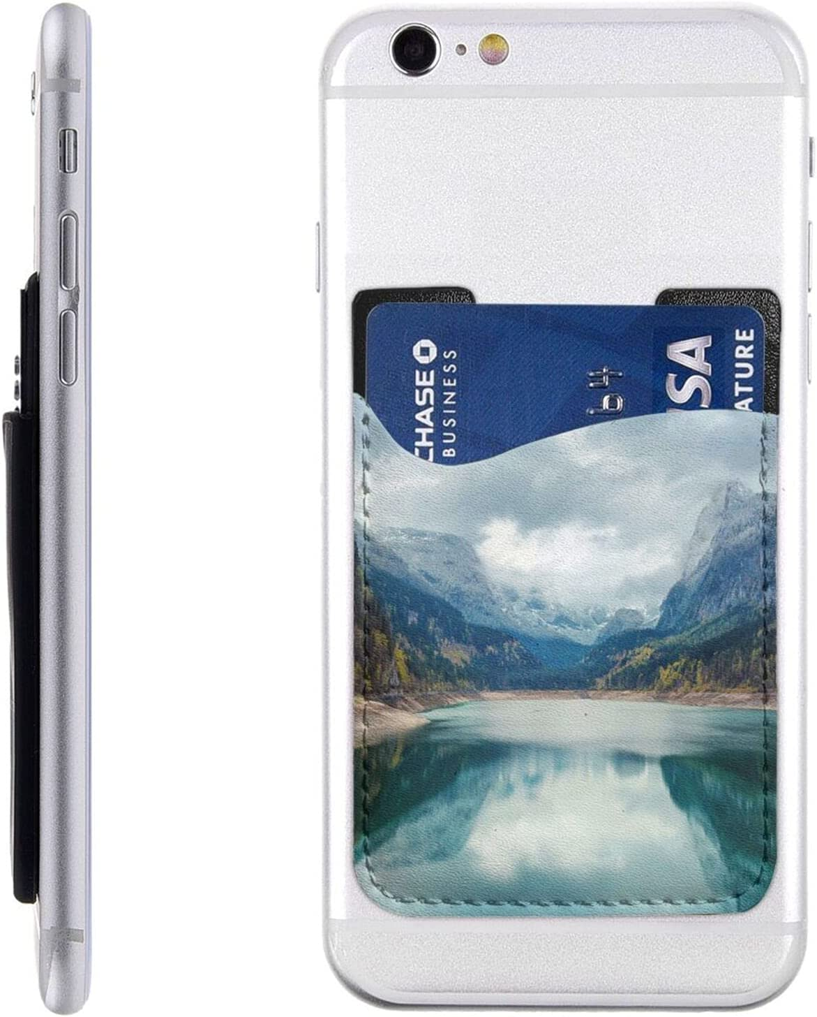 Natural Mountain Landscape Phone Card Attention Max 82% OFF brand Cell Stick On Holder