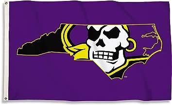 BSI NCAA East Carolina Pirates Unisex 3 Ft. X 5 Ft. Flag with Grommets3 Ft. X 5 Ft. Flag with Grommets, Purple, one Size
