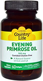 Country Life Evening Primrose Oil, 500 mg, 60-Count