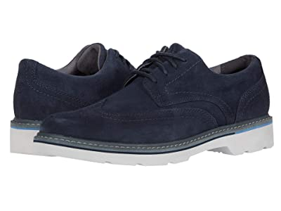 Rockport Charlee Wing Tip (Navy Suede) Men