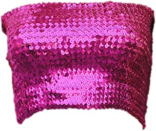 Womens Sparkling Sequins Stretch Party Clubwear Tube Top
