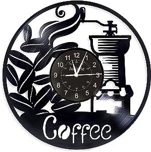 Vinyl Record Wall Clocks for Cafe, Handmade Retro Record Clock, Vinyl Records Wall Decor, 12