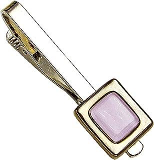 Krawattenklammer • Lila • Krawattennadel • Tschechisches Glas mit Platin überzogen • Handgefertigt