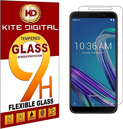 Kite Digital Compatible with ASUS ZENFONE MAX M1 Premium Tempered Glass Screen Protector Slim 9H Hard 2.5D