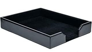 Dacasso Black Bonded Leather Letter Tray