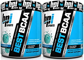 BPI Sports Best BCAA Peptide Linked Branched Chain Amino Energy Powder, 10.58oz, 30 Servings (BlueRaspberry 2 x 30svg) by ...