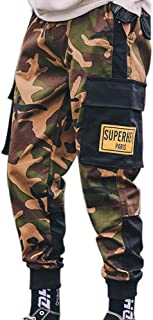XYXIONGMAO Streetwear Joggers Hip Hop Cargo Pants for Men Multi-Pocket Sports Casual Pants Camouflage Harem Overalls