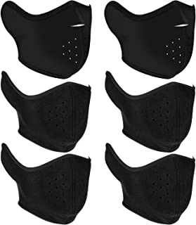 Gejoy 6 Pieces Winter Half Face Mask Windproof Mouth Mask Half Face Ski Mask with Breathing Holes for Women Men Outdoor Activities