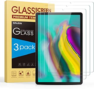 SPARIN Screen Protector for Galaxy Tab S6/Tab S5e 10.5 inch, [3-Pack] Samsung Galaxy Tab S6/Tab S5e Tempered Glass Screen Protector with S-Pen Compatible,Scratch Resistant